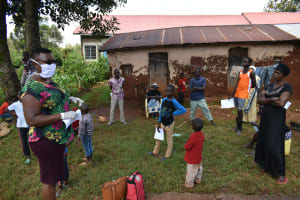 The Water Project: Lutonyi Community, Lutomia Spring -  Ms Chelagat Leading The Training