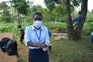 The Water Project: Lutonyi Community, Lutomia Spring -  Teaching The Ten Steps Of Handwashing