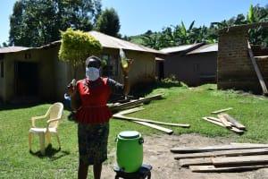 The Water Project: Imbinga Community, Imbinga Spring -  Handwashing With Soap And Water Encouraged