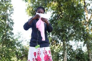 The Water Project: Buyangu Community, Mukhola Spring -  Illustration On Making Homemade Masks