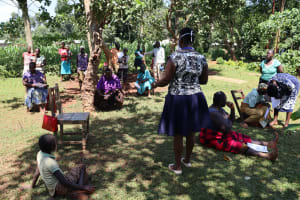 The Water Project: Shisere Community, Richard Okanga Spring -  Covid Sensitization Training