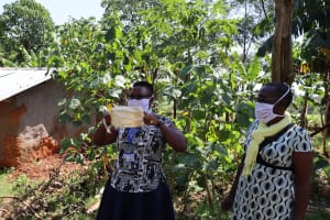 The Water Project: Shisere Community, Richard Okanga Spring -  Homemade Masks