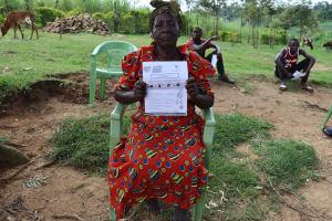 The Water Project: Emurumba Community, Makokha Spring -  An Elderly Woman Attending Training For Makokha Spring