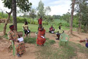 The Water Project: Emurumba Community, Makokha Spring -  Coughing And Sneezing Into Elbow Helps Prevent Virus Spread