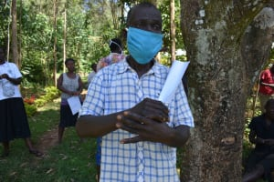 The Water Project: Ebutindi Community, Tondolo Spring -  An Elder Reacts To The Training