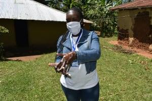 The Water Project: Ebutindi Community, Tondolo Spring -  Handwashing Demonstration