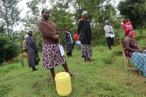 The Water Project: Buyangu Community, Osundwa Spring -  Community Members Following Training