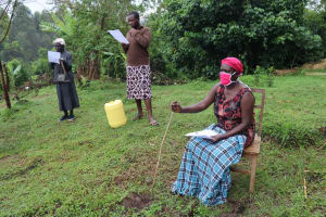 The Water Project: Buyangu Community, Osundwa Spring -  Old Lady At The Training