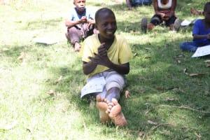 The Water Project: Mukangu Community, Metah Spring -  Children Following Handwashing Tips