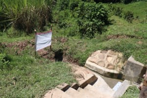 The Water Project: Mukangu Community, Metah Spring -  Installed Reminder Chart At The Spring