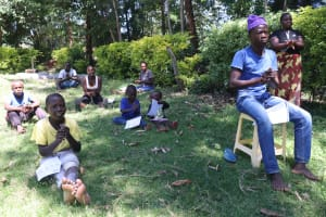 The Water Project: Mukangu Community, Metah Spring -  Participants Practice Handwashing Steps