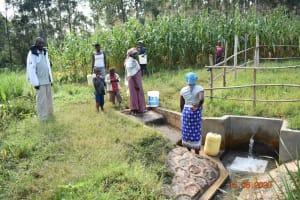 The Water Project: Sichinji Community, Kubai Spring -  Margaret Mbone And Other Water User Committee Members