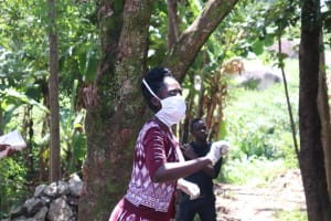 The Water Project: Mwinaya Community, Severe Spring -  Ms Shigali On The Frontline War Against The Coronavirus