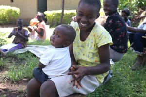 The Water Project: Eshiakhulo Community, Omar Sakwa Spring -  Everyone Was Happy To Try Handwashing