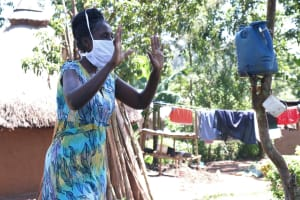 The Water Project: Eshiakhulo Community, Omar Sakwa Spring -  To Avoid Contact With People Please Let Us Stick To Waves As Greetings