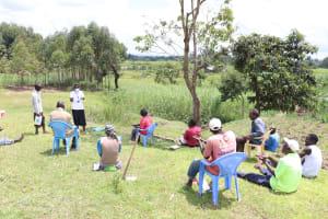 The Water Project: Futsi Fuvili Community, Shikanga Spring -  Handwashing Was A Communual Activity