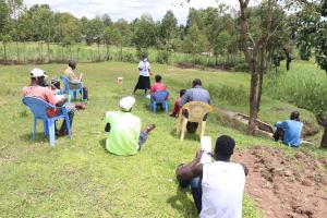 The Water Project: Futsi Fuvili Community, Shikanga Spring -  Training In Session At Shikanga Spring