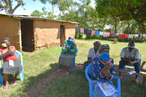 The Water Project: Mkunzulu Community, Museywa Spring -  A New Normal In Kenya Women With Homemade Masks At The Training