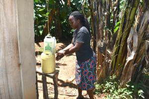 The Water Project: Elunyu Community, Saina Spring -  A Homemade Handwashing Point