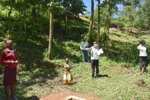 The Water Project: Elunyu Community, Saina Spring -  Ongoing Training At Saina Spring