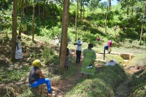 The Water Project: Elunyu Community, Saina Spring -  Social Distancing