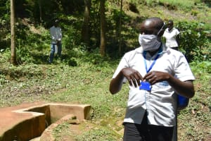 The Water Project: Elunyu Community, Saina Spring -  Trainer Kipchoge On The Frontline