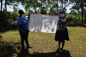 The Water Project: Mtao Community, Tifina Odari Spring -  A Sack Used As A Caution Chart