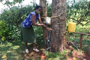 The Water Project: Mtao Community, Tifina Odari Spring -  Handwashing Demonstration