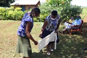 The Water Project: Mtao Community, Tifina Odari Spring -  Making Homemade Masks