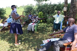 The Water Project: Mtao Community, Tifina Odari Spring -  Social Distancing Check