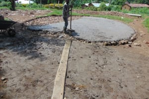 The Water Project:  Setting Tank Slab Foundation