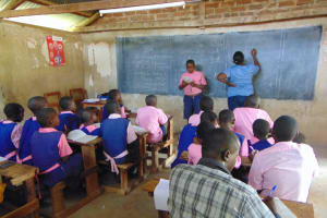 The Water Project:  Pupils Present Work As Patience Records It On Board
