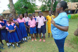 The Water Project:  Patience Demonstrates Dental Hygiene