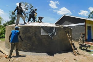The Water Project: Mukoko Baptist Primary School -  Dome Installation