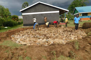 The Water Project: Mukoko Baptist Primary School -  Filling The Excavated Foundation With Hardcore