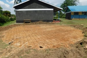 The Water Project: Mukoko Baptist Primary School -  Foundation Laid For The Tank