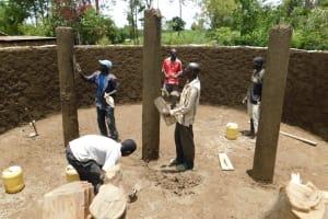The Water Project: Mukoko Baptist Primary School -  Construction Of The Pillars