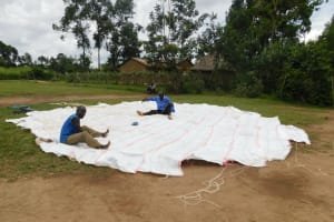 The Water Project: Mukoko Baptist Primary School -  Dome Setting Preparations