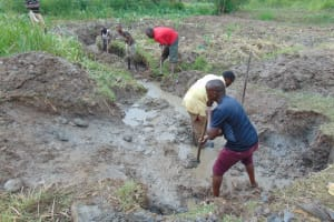 The Water Project: Mukhonje Community, Mausi Spring -  Excavation Process