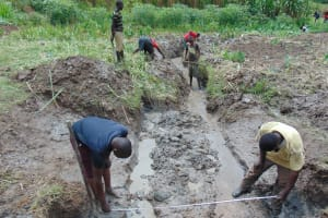 The Water Project: Mukhonje Community, Mausi Spring -  Site Measurements