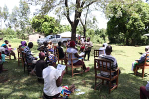 The Water Project: Mukhonje Community, Mausi Spring -  Covid Training Session