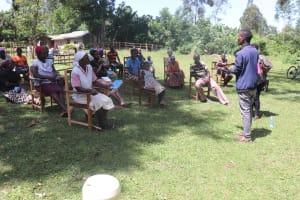 The Water Project: Mukhonje Community, Mausi Spring -  Handwashing Demonstration