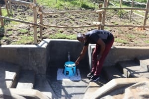 The Water Project: Mukhonje Community, Mausi Spring -  Yield Test