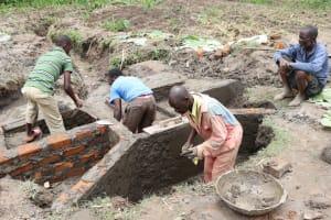 The Water Project: Mukhonje Community, Mausi Spring -  Inside Plaster