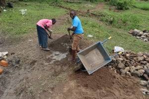 The Water Project: Mukhonje Community, Mausi Spring -  Cement Works