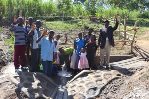 The Water Project: Mukhonje Community, Mausi Spring -  People Posing At The Spring