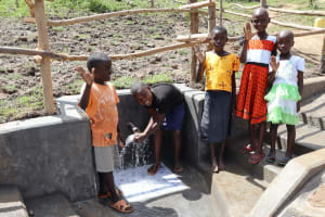 The Water Project: Mukhonje Community, Mausi Spring -  Posing At The Spring