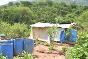 The Water Project: Nzimba Community A -  Construction Materials