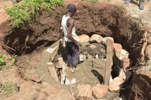 The Water Project: Nzimba Community A -  Building The Well Walls