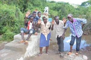The Water Project: Nzimba Community A -  Community Members At The Well